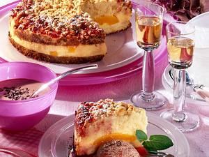 Pfirsich-Melba Streuselkuchen Rezept
