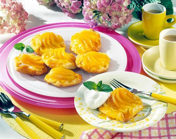 Pfirsich-Pudding-Teilchen Rezept
