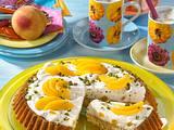 Pfirsich-Stracciatella-Kuchen Rezept