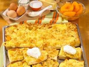 Pfirsich-Streusel-Kuchen Rezept