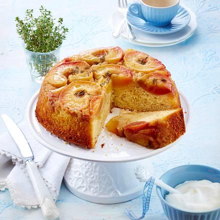 Pfirsich-Thymian Upside-Down Kuchen Rezept