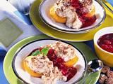 Pfirsiche mit Amaretti-Baiser Rezept