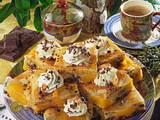 Pfirsichkuchen mit Schokolade und Mandeln Rezept