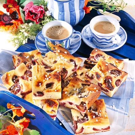 Pflaumen-Kuchen mit Schmand-Guss Rezept
