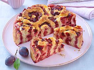 Pflaumen-Rosenkuchen Rezept