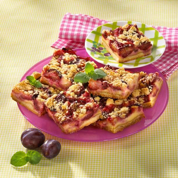 Pflaumen-Streusel-Blechkuchen Rezept