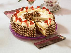 Pflaumen-Waffel-Torte Rezept