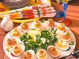 Pikant gefüllte Eier Rezept