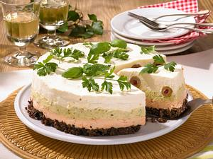 Pikante Frischkäse-Torte Rezept