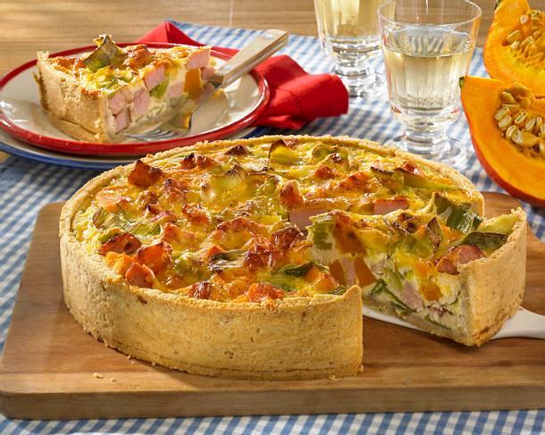 Pikante Gemüse-Kasseler-Torte Rezept