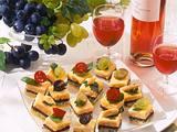 Pikante Käse-Petits-Fours Rezept
