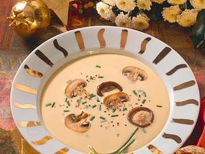 Pilz-Cremesuppe mit Shiitake Rezept