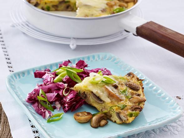 Pilz-Frittata mit Bergkäse und Radicchio Rezept