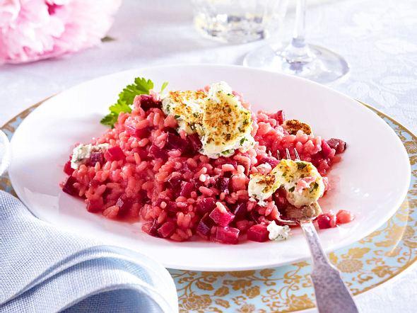 Pink Risotto mit gebratenem Kräuterpaneer Rezept