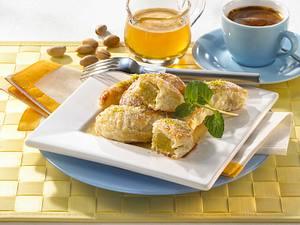 Pistazien-Taschen mit Honigsirup Rezept