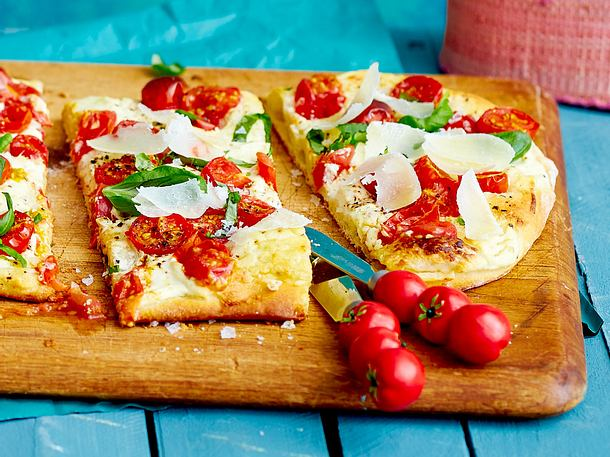 Pizza Margherita mit Ziegenkäse Rezept