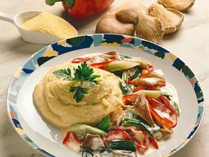 Polenta mit Pilzgemüse Rezept