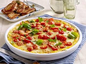Polenta-Pizza mit Rosmarin-Schnitzelchen Rezept