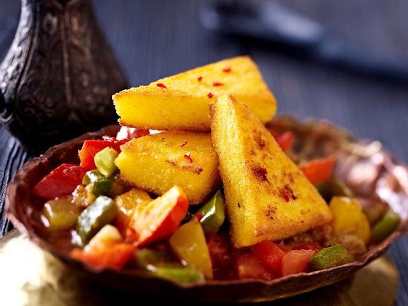 Polentaschnitten auf Gemüse (Ayurveda) Rezept