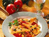 Polentaschnitten mit Tomaten-Paprika-Sugo Rezept