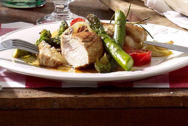 Pollo con asparagi verdi Rezept