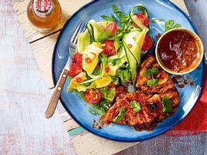 Pollo con mole (Huhn in Schoko-Chili-Soße) Rezept