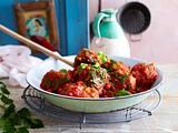 Polpette di Melanzane (gebratene Auberginenbällchen mit Tomatensoße) Rezept