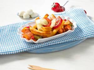 Pommes-Auflauf rot-weiß Rezept