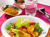Porree in Rosinen-Curry Rezept