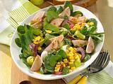 Porree-Mais-Salat mit Geflügelwurst Rezept