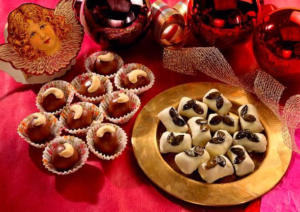 Pralinen mit Cashew- und Kürbiskernen Rezept