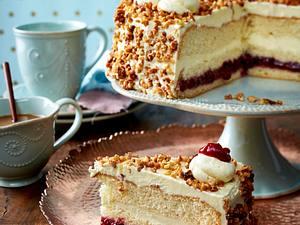 Preiselbeer-Krokant-Torte Rezept