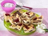Preiselbeer-Schoko-Käse-Blechkuchen Rezept