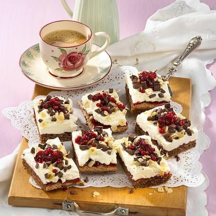 Preiselbeer-Schoko-Kuchen Rezept