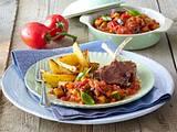 Provencalisches Gemüse mit Lammkoteletts Rezept