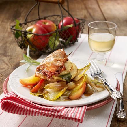 Puten-Apfel-Saltimbocca Rezept