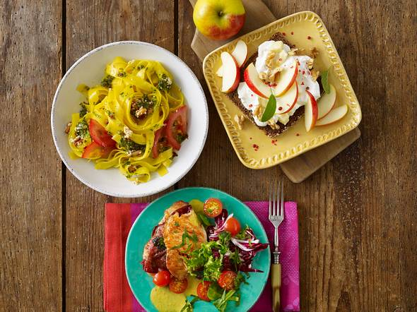 Puten-Saltimbocca mit Salat Rezept