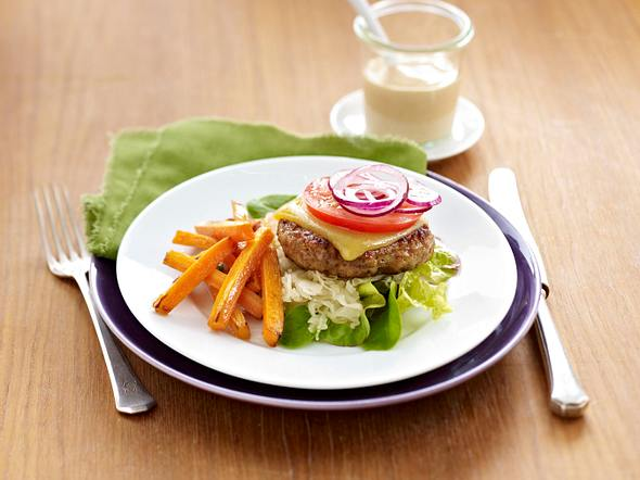 Puten-Sauerkraut-Burger Rezept