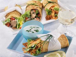 Puten-& Thunfisch-Wraps Rezept