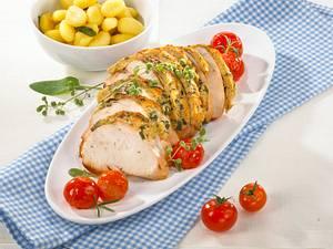 Putenbraten mit Parmesankruste und Gnocchi Rezept