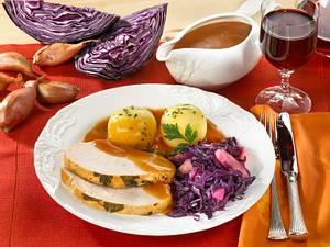 Putenbraten mit Rotkohl Rezept