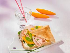 Putenbrust-Mango-Sandwich Rezept