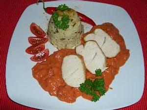 Putenfilet mit Paprika-Frischkäse-Sauce Rezept