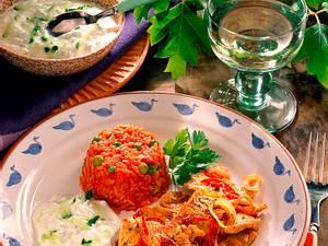 Putengiros mit Tomatenreis Rezept
