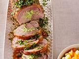 Putenrollbraten mit Kräuterfüllung und Kartoffel-Möhren-Stampf Rezept