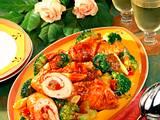 Putenrouladen mit Broccoligemüse Rezept