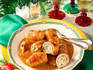 Putenrouladen mit Kräuter-Frischkäsefüllung Rezept