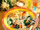 Putenrouladen mit Möhren-Spinat Rezept