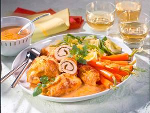 Putenrouladen mit Spitzkohl-Möhrengemüse Rezept