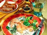 Putenschnitzel in Roquefotsoße Rezept